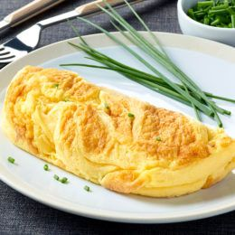 Frozen gourmet ingredient omelette