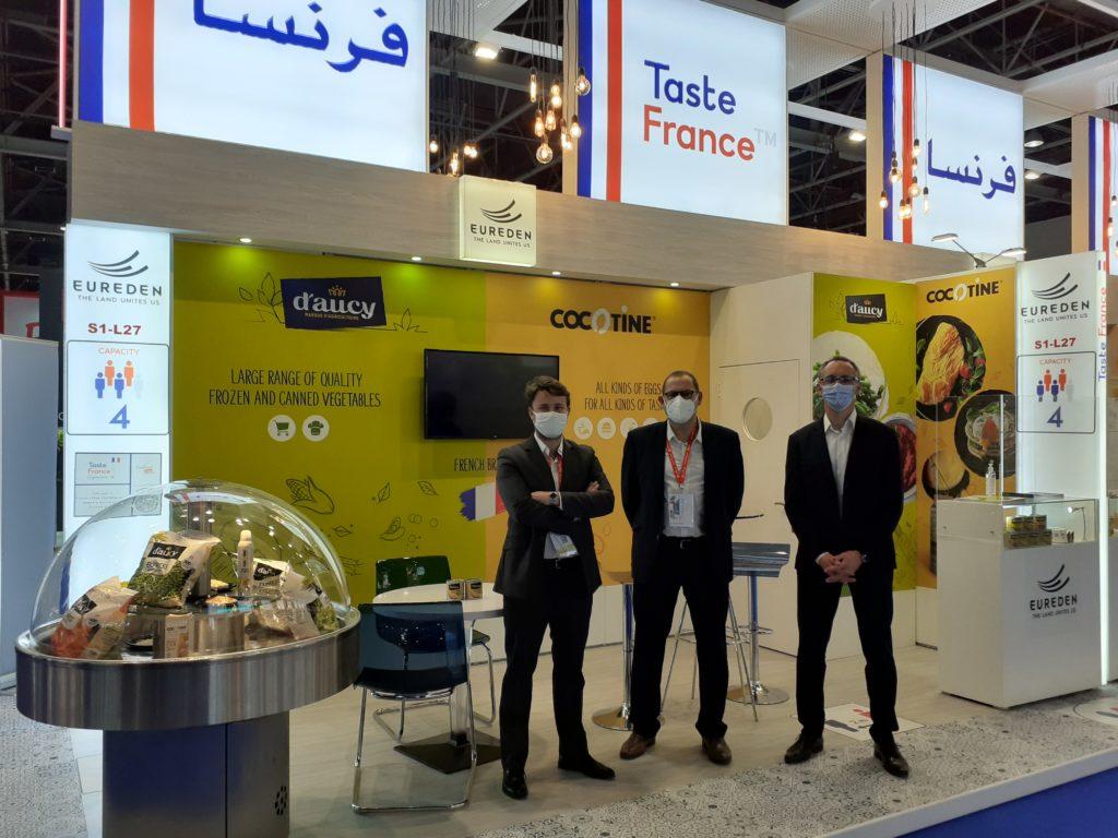 El equipo de Cocotine en la feria Gulfood de Dubai
